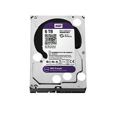 WD® Dyski twarde WD60PURX 6TB(IntelliPower 64MB Cache) purple drive 3.5-inch HDD surveillance for CCTV NVR na Bezpieczeństwo systemy