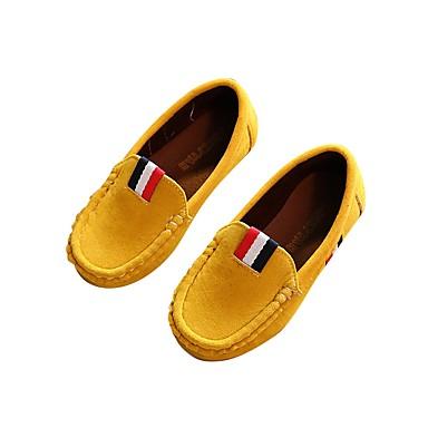 baratos Sapatos de Criança-Para Meninos Courino Mocassins e Slip-Ons Little Kids (4-7 anos) / Big Kids (7 anos +) Conforto Apliques Vinho / Verde Tropa / Amarelo Primavera / Casamento / Casamento