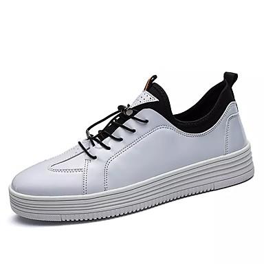 Męskie Buty PU Zima Comfort Tenisówki White / Black