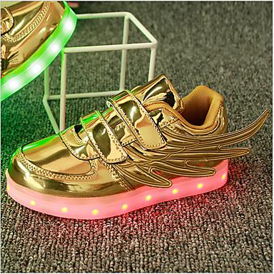 Dla chłopców Buty Materiał do wyboru Skóra patentowa Wiosna Lato Świecące buty Comfort Tenisówki LED Tasiemka Szurowane na Casual Na