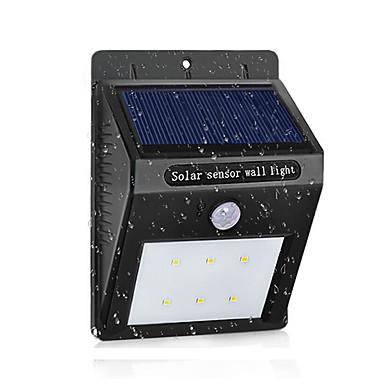 led lampa słoneczna wodoodporny czujnik ruchu pir słoneczna moc światła ogród led światło słoneczne na zewnątrz abs kinkiet
