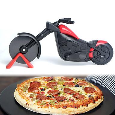 Motorcycle Pizza Cutter Stainless Steel Wheel Knife Roller Pizza Chopper Slicer Peel Knives