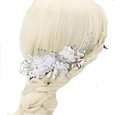 Szyfon / Kryształ / Imitacja pereł Grzebienie do włosów z 1szt Ślub / Specjalne okazje Winieta