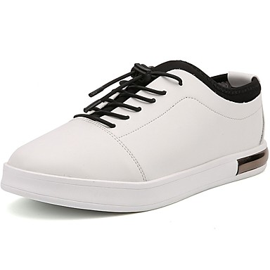 Męskie Buty PU Jesień Comfort Tenisówki na Casual White Black