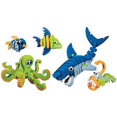 Klocki 5pcs Dinozaur Rybki Shark Zwierzę DIY Outfits Mix & Match Zestawy Animals Zabawki Prezent