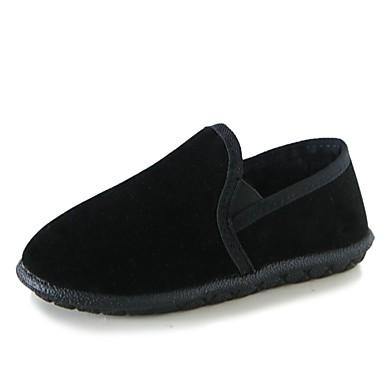 Damskie Obuwie Zamsz Zima Comfort Mokasyny i pantofle Okrągły Toe na Casual Black Gray