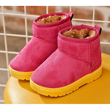 Mädchen Schuhe Nubukleder Winter Schneestiefel / Flaum Futter Stiefel für Fuchsia / Kaffee / Kamel