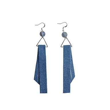 Damskie Kolczyki wiszące Kolczyki koła Kutas Urocza Na co dzień Modny Słodkie Materiał Stop Geometric Shape Biżuteria Niebieski Bar