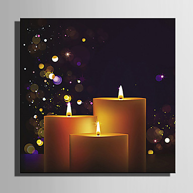 LED Canvas Art Holiday One Panel Square Wall Decor Home Decoration