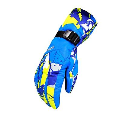 Rękawice narciarskie Męskie Damskie Full Finger Keep Warm Wodoodporny Rain-Proof Poliester druku Narciarstwo Zima