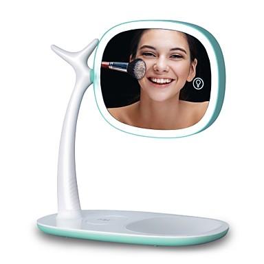 Χαμηλού Κόστους Συσκευή περιποίησης προσώπου-οδήγησε καθρέφτης ελαφρύ διπλό καθρέφτη μεγέθυνση 360 βαθμός περιστροφή ρυθμιζόμενο φως usb φόρτισης