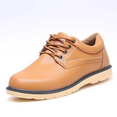 Herrn Schuhe PU Frühling Herbst formale Schuhe Outdoor Schnürsenkel für Normal Schwarz Braun