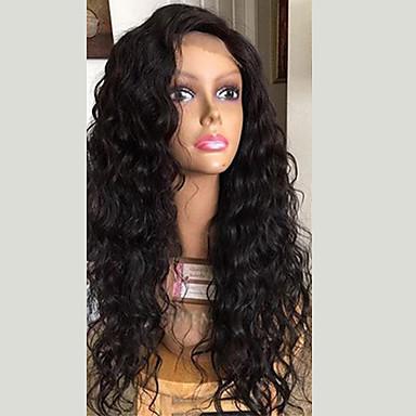 Włosy naturalne Siateczka z przodu Peruka Włosy brazylijskie Curly Peruka Z Baby Hair 130% 100% Dziewica Damskie Długie Peruki koronkowe z naturalnych włosów