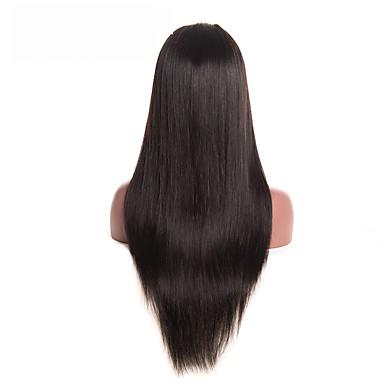 Włosy remy Koronkowy przód Peruka Włosy brazylijskie Prosto Z baby hair 130% Gęstość Naturalna linia włosów Krótki Medium Długo Damskie