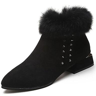 Damen Schuhe Gummi Winter Schneestiefel Stiefel Runde Zehe Reißverschluss Schwarz