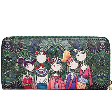 Damen Taschen PU Unterarmtasche Reißverschluss für Ganzjährig Dunkelgrün