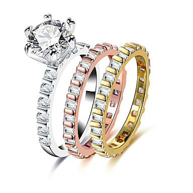 Damskie Rhinestone Pierścień oświadczenia - Stop Assorted Color