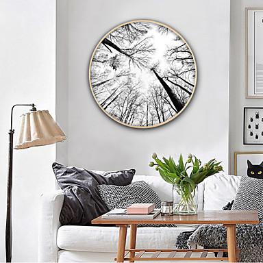 Krajobraz Kwiatowy/Roślinny Ilustracja Wall Art,PVC (polichlorek winylu) Materiał z ramą For Dekoracja domowa rama Art Living Room