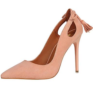 Basique Marron Automne Talon Rouge Chaussures Printemps Talons pointu Fourrure 06415178 Bout Escarpin Chaussures Aiguille Gladiateur Femme à Yq6Ucq