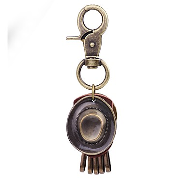 Łańcuszek do kluczy Złoty Koło Skóra, Stop Klasyczny, Vintage Na Codzienny / Święto