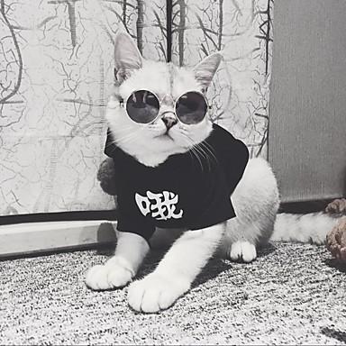 Katze Kapuzenshirts Hundekleidung Solide Schwarz Baumwolle Kostüm Für Haustiere Herrn / Damen Beiläufig / sportlich / Modisch