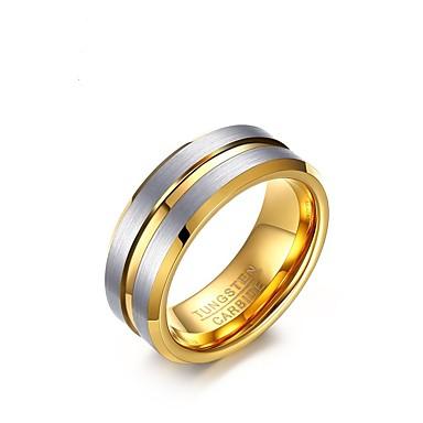 Męskie Band Ring Gold Złoty Stal Circle Shape Vintage Elegancki Ślub Impreza Zaręczynowy Codzienny Biżuteria kostiumowa