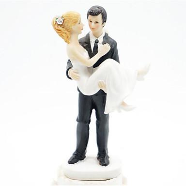 Figurki na tort Fairytale Theme Ślub Pleksiglas Ślub Rocznica z 1 Pudełko na prezent
