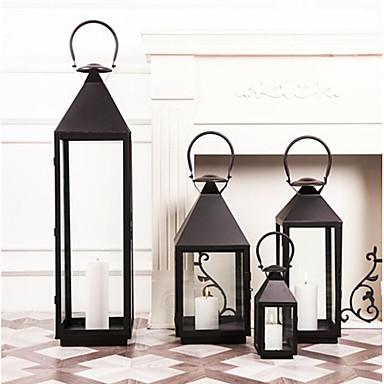klassische Kerzenständer aus transparentem Metall mit Leuchtring
