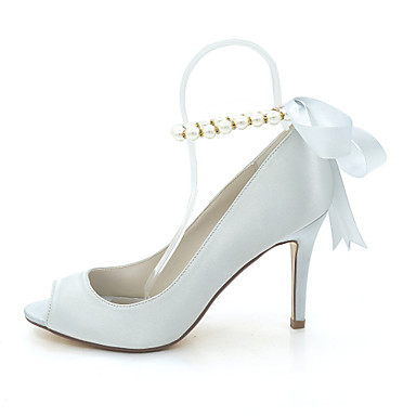 Chaussures Aiguille Perle ouvert Femme Satin Champagne de Imitation Escarpin mariage Talon Bout 06397392 Eté Basique Chaussures Bleu Printemps HUwvY