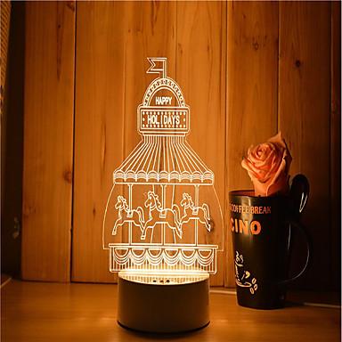 1 Satz von 3d Stimmung Nachtlicht Hand Gefühl dimmbar USB angetrieben Geschenk Lampe Vergnügungspark