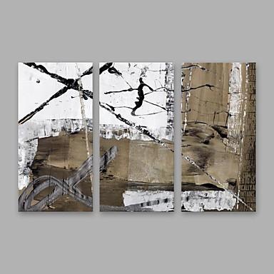 Ręcznie malowane Streszczenie Pionowy, Nowoczesny Brezentowy Hang-Malowane obraz olejny Dekoracja domowa Trzy panele
