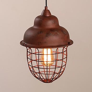 vintage industrial edison prostota loft wisiorek światła metalowe cieniu jadalnia kuchnia bar cafe light