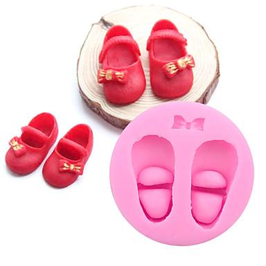 3d süße Baby Schuhe Silikon Kuchen Formen Gum Paste Schokolade diy Ton Süßigkeiten Fondant backen Werkzeuge