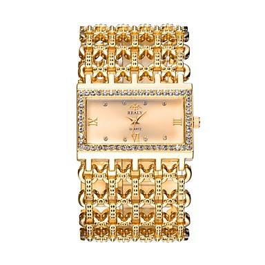 Недорогие Женские часы-Жен. Эксклюзивные часы Наручные часы золотые часы Кварцевый Серебристый металл / Золотистый / Розовое золото С гравировкой Имитация Алмазный Аналоговый