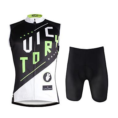 ILPALADINO Męskie Bez rękawów Koszulka z szortami na rower - Black/White Rower Kamizelka Spodenki snowboardowe Zestawy odzieży, Quick