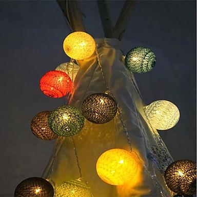 1m Leuchtgirlanden 10 LEDs Warmes Weiß Einfache Batterie 1pc
