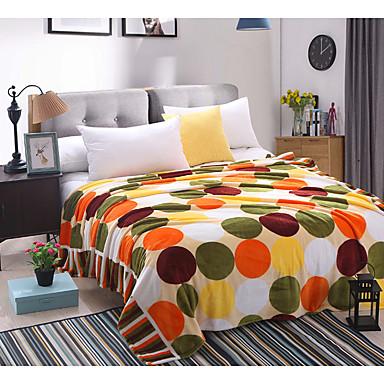 Flanell Blumen Polyester / Baumwolle Decken