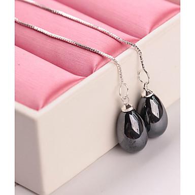 Damskie Kolczyki wiszące Pearl imitacja Prosty Modny Imitacja pereł Kropla Biżuteria Black Gray Czerwony Niebieski Różowy Codzienny Praca