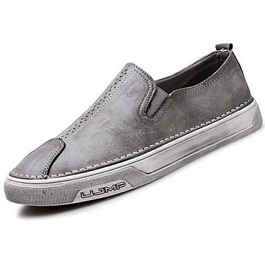 Męskie Buty Nappa Leather Wiosna Jesień Comfort Mokasyny i pantofle na Na wolnym powietrzu Black Gray Brown