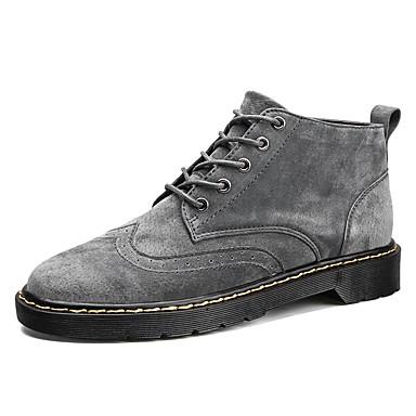 Herren Schuhe PU Herbst Winter Komfort Reitstiefel Modische Stiefel Stiefeletten Springerstiefel Stiefel Booties / Stiefeletten Für Normal