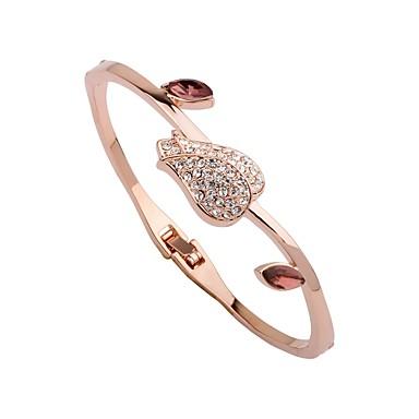 voordelige Armband-Dames Bangles Cuff armbanden Bloem Dames Modieus Elegant Verguld Armband sieraden Goud Rose Voor Lahja Dagelijks