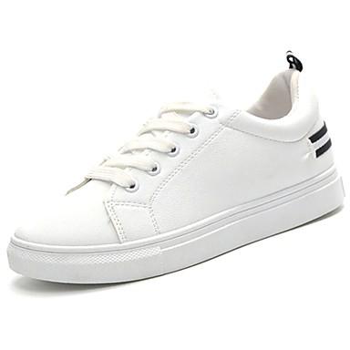 Damen Schuhe Gummi Winter Komfort Sneakers Runde Zehe Schnürsenkel Für Schwarz Rot