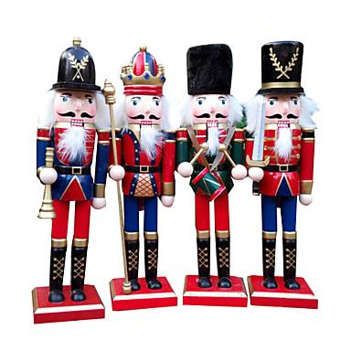 1pc Høytider Nøtteknekkere Jul Fest, Feriedekorasjoner Holiday Ornaments