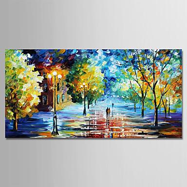 Hang-Malowane obraz olejny Ręcznie malowane - Krajobraz Nowoczesny Brezentowy