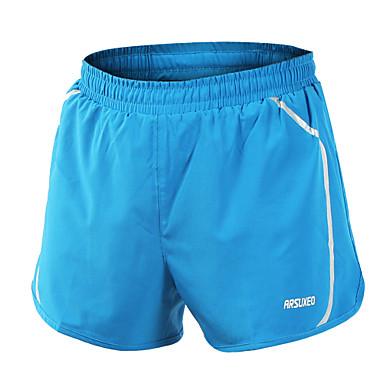 Arsuxeo Homens Shorts de Corrida Secagem Rápida Materiais Leves Tiras Refletoras Reduz a Irritação Shorts Calças Ioga Acampar e Caminhar