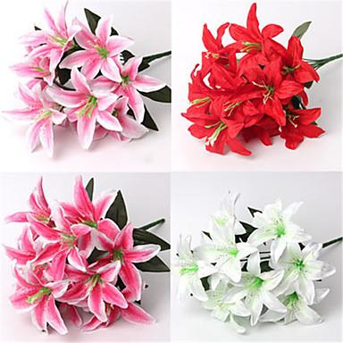 2 Gałąź Jedwab Others Lilie Bukiety na stół Sztuczne Kwiaty