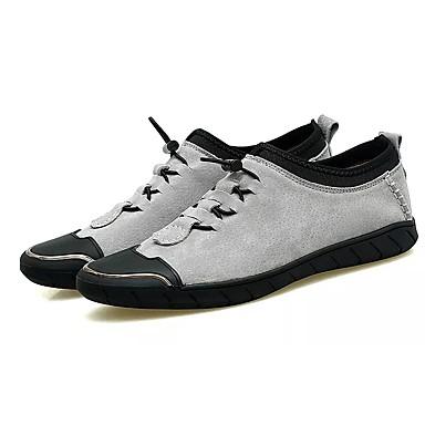 Herrn Schuhe PU Herbst / Winter Komfort Sneakers Schwarz / Grau / Khaki
