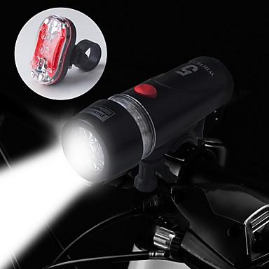 Lumini de Bicicletă Iluminat Bicicletă Față Iluminat Bicicletă Spate LED Ciclism Rezistent la apă 14500 AA 100 Lumeni Baterie Ciclism