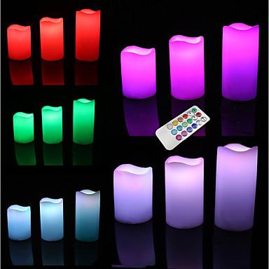 Oświetlenie LED Zabawki Zaokrąglanie Cylindryczny Święto Żarówka w zestawie Fluorescencyjna Pilot zdalnego sterowania Dla dorosłych 3