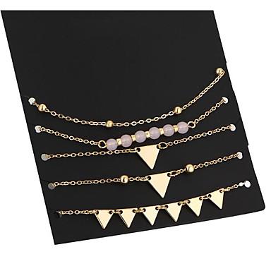 Damskie Bransoletki z breloczkami Modny Stop Geometric Shape Biżuteria Codzienny Biżuteria kostiumowa